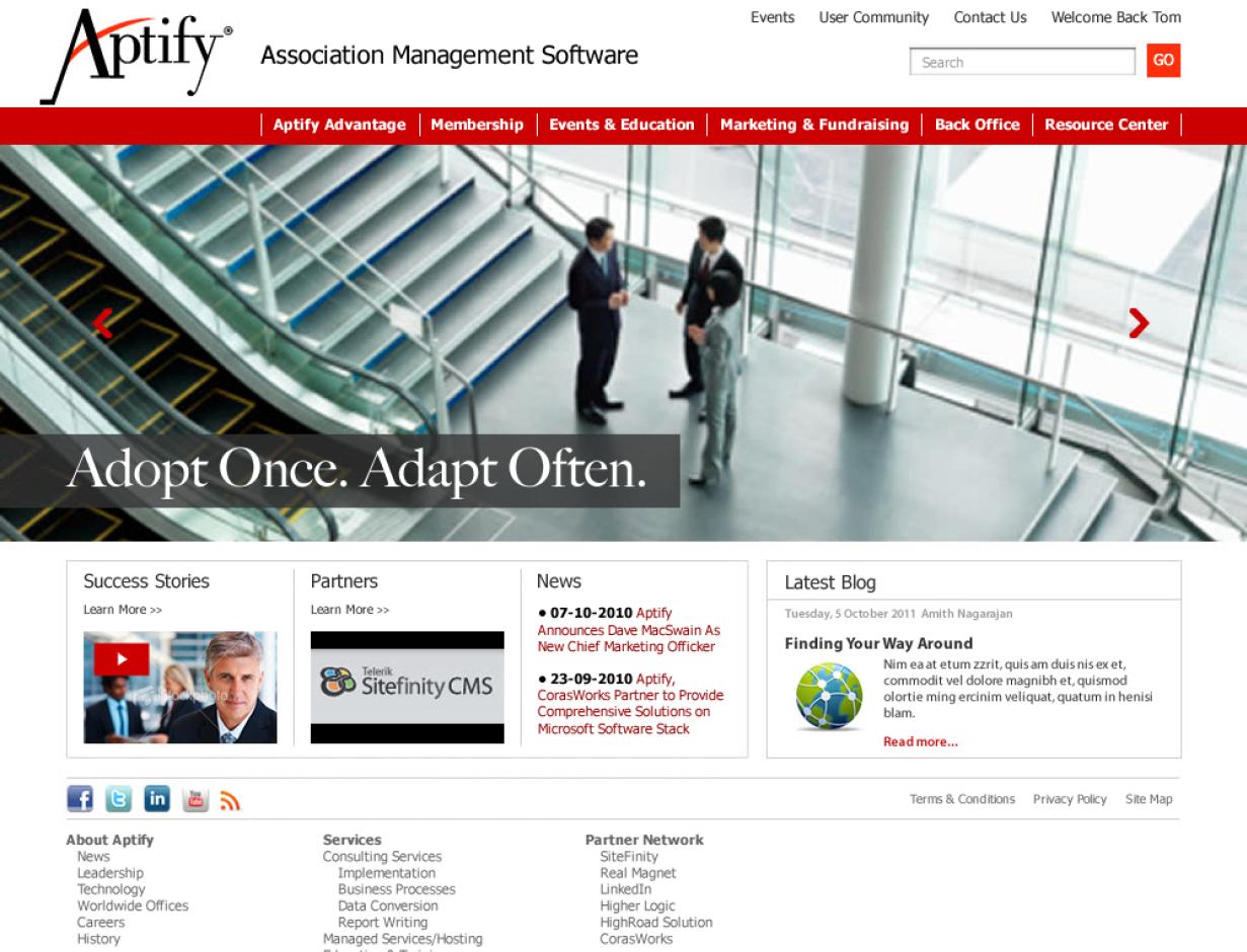 Aptify Website Case Study