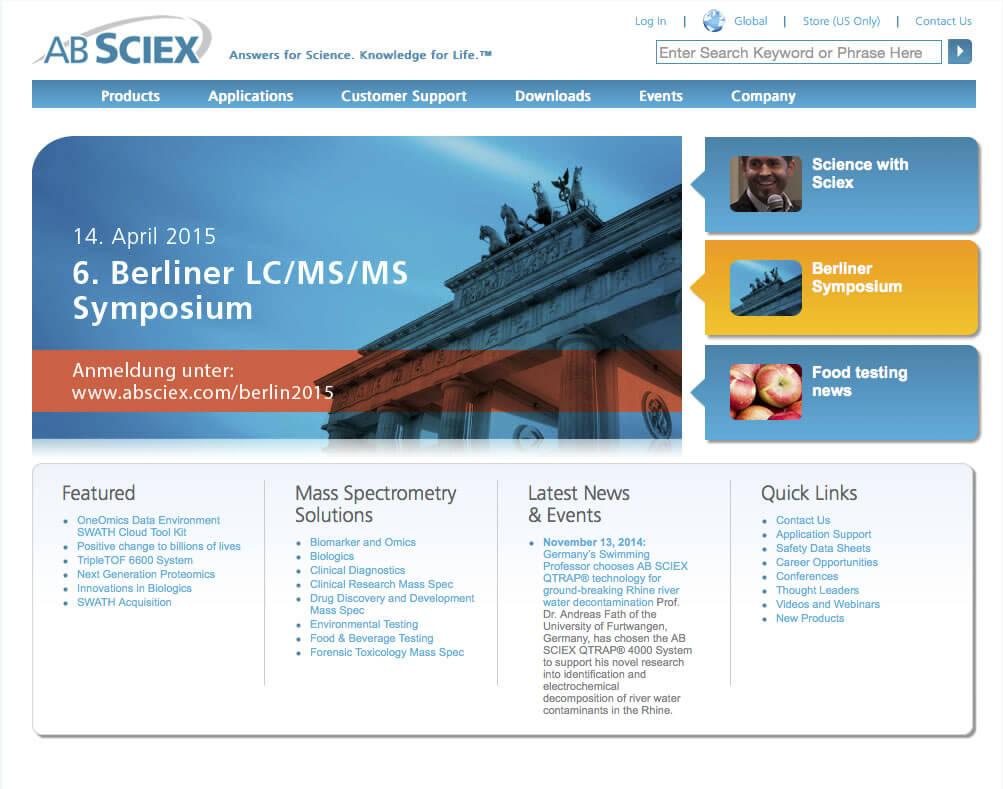 AB Sciex Website Results