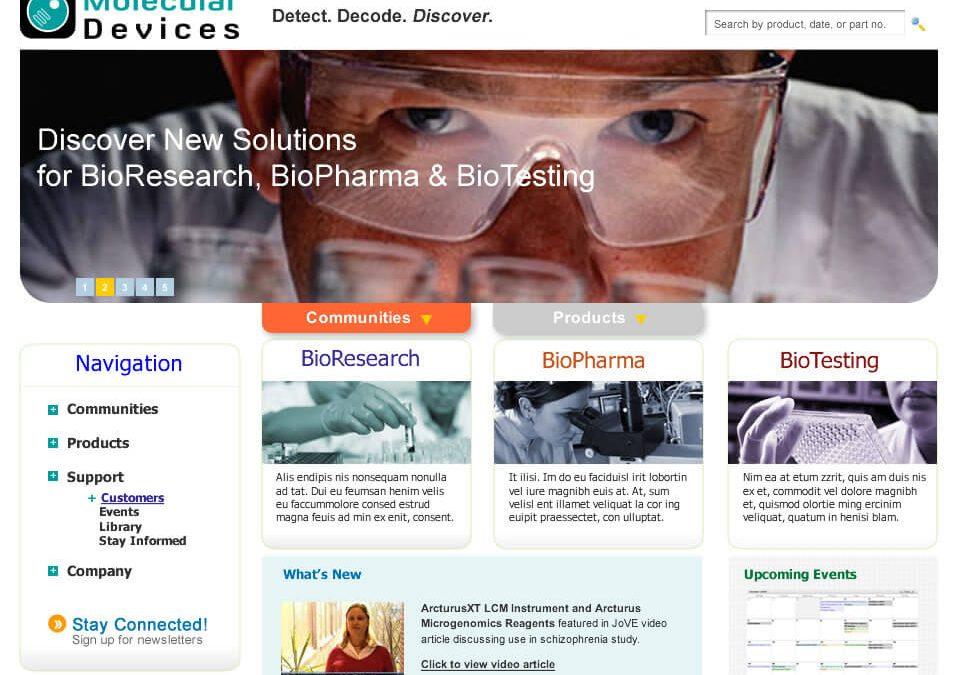 Molecular Devices Website