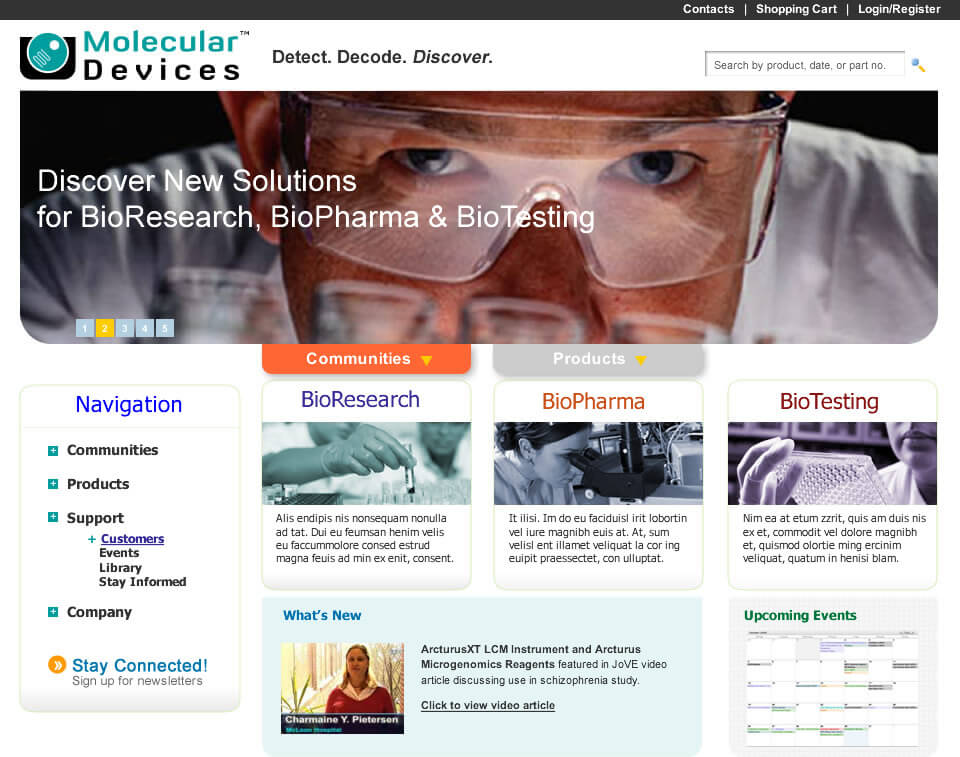 Molecular Devices Website