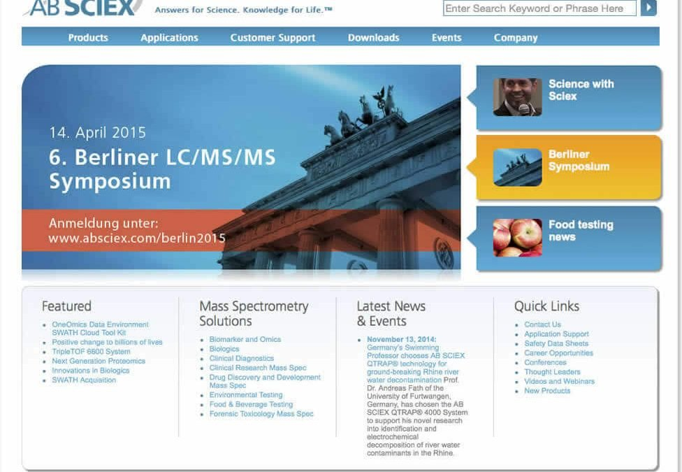 AB Sciex Website