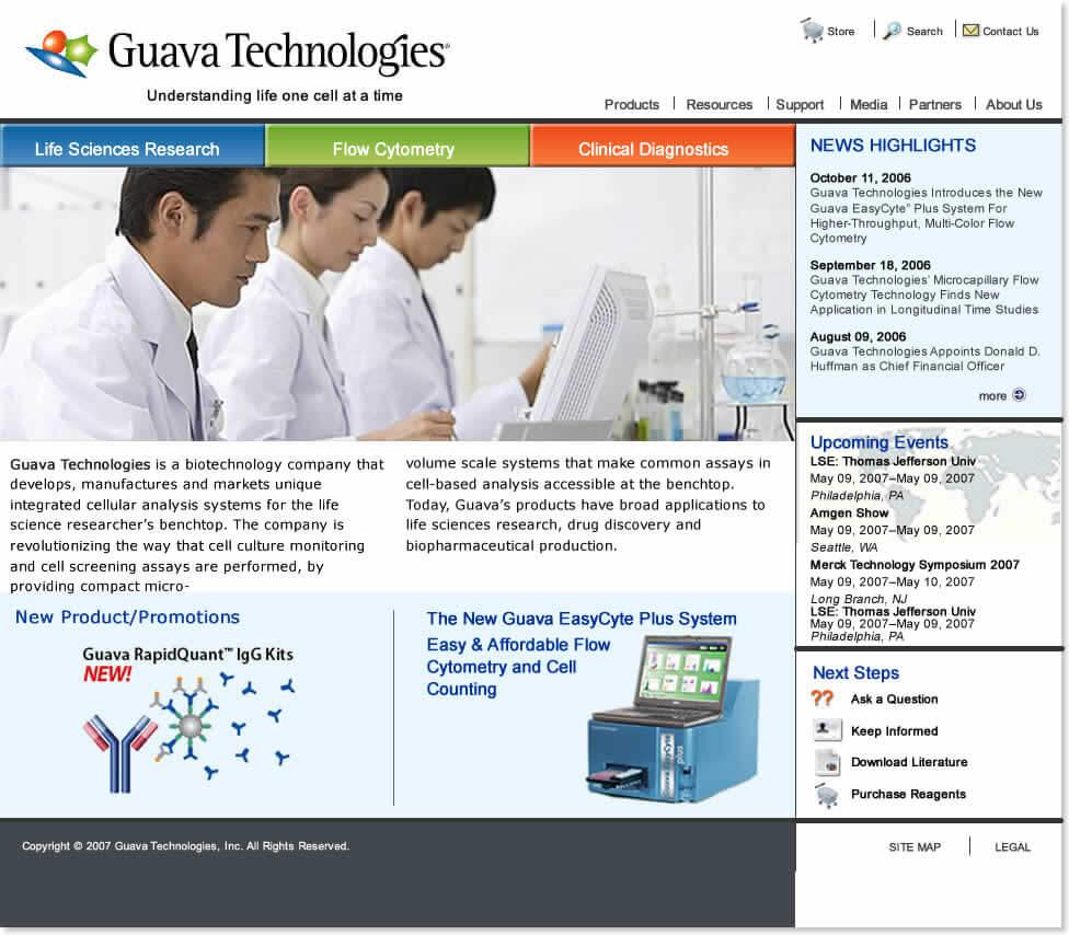 Guava Technologies Website Redesign