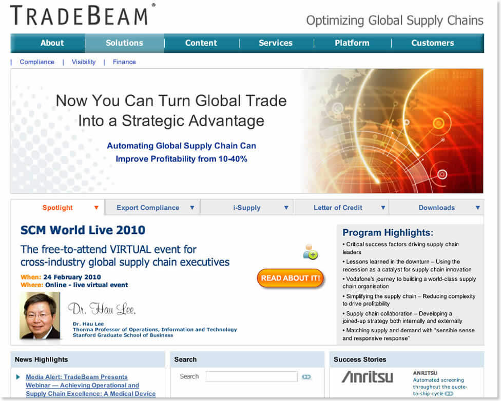 TradeBeam Website Redesign